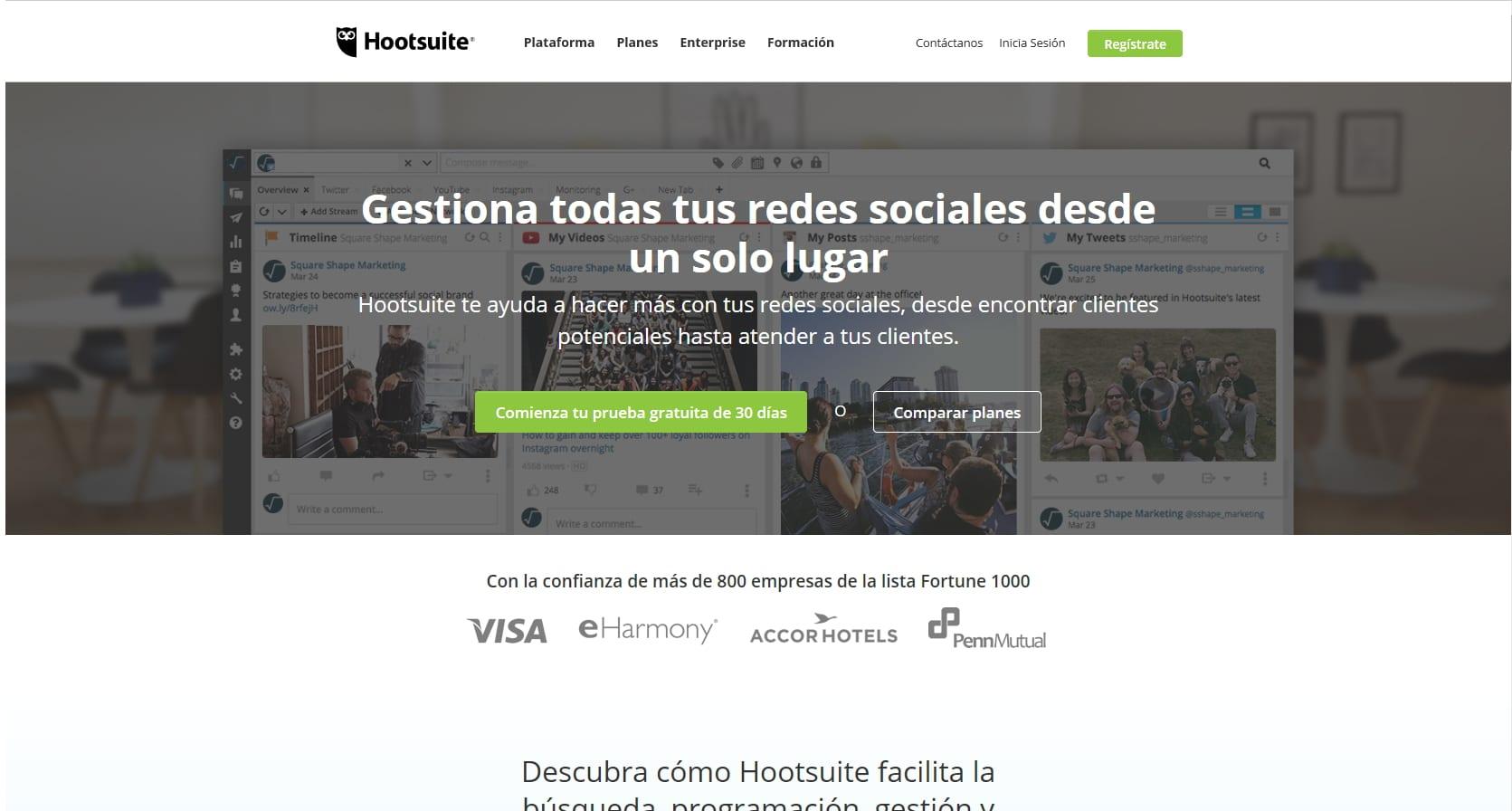 Hootsuite. Herramientas para marketing digital